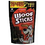Dogs will go wild for PRO PAC® Beef Flavored Woof 'em Down Sticks™. That's because the juicy meaty flavor of beef is sealed in every mouth-watering bite. Your dog's senses will go wild when you open the bag