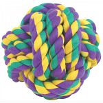 Nuts for Knots Ball Dog Toy is a woven ball of colorful fabric that is a durable and longlasting dog toy as well as a whole lot of good times for your canine companion. Medium