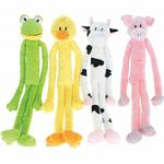 Large squeaky plush animals with extra long long arms and legs Designed for medium to large dogs