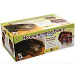 Mess-proof pet bowls. Feeding area stays neat and tidy. Prevents floor damage. Reduces clean-up time. Includes a bottom tray for spilled water.