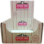 Countertop display box to hold superior farms pet provisions dog bones, chews and treats.