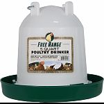 This easy-fill, easy-clean poultry drinker is molded from long-life plastic with durable fountain It features a twist-lock system and a hanger/carry-handle Accommodates up to 32 poultry or game chicks