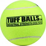Extra-thick natural rubber walls which give added durability and bounce Non-abrasive polyester felt won t wear down teeth Non-toxic, colorfast Tug and fetch