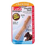 Uses an innovative material that combines real wood with durable synthetic material to create a stronger, safer stick . Natural wood smell attracts and keeps dog s interest for hours. Non-toxic. Great for dogs that love to chew! Combines real wood with s