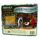 Provides the extra energy birds need, especially during cold months, and during breeding season. Patented fusion of seed and suet attracts a greater variety of bird species that seed or suet alone. Provide a tasty meal that is good for birds. Neat and eas
