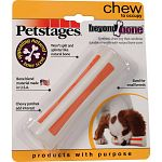 Combines durable strength with natural bone scent Will not split and splinter like a natural bone Chewy patches add interest Bone blend made in the usa