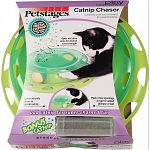 Cat toy that combines scent and movement to induce play Peek-a-boo openings at top for added glimpse of ball Open and close vents for desired scent strength Center securely closes to contain catnip; fresh catnip included with the toy Easy to fill and clea