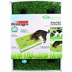 Combines hunting fun with a touch of nature Faux grass for scratching, hunting and lounging Jingle balls fun to chase and bat Discovery sides for more hunting opportunities Great for one or more cats