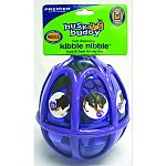 This activity ball mentally and physically stimulates dogs by appealing to their natural prey and stalking drives. Customizable dual treat meters randomly dispense kibble and treats as the ball tumbles around. Also features rubber bumpers to minimize nois
