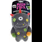 Squeaking plush from outer space! Three layers with trademarked alien flex gnaw guard protection