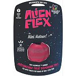 100% trademarked alien flex candy scented rubber Customizable treat dispensing toy - customize the treat challenge by cutting pins Fill with treats for hours of non-stop fun Great for teething puppies and small dogs