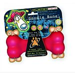 Kong Goodie Bone Dog Treat Toy is a fun way to give your dog treats and a bone at the same town. Bone has holes at each end to insert a dog treat. Keeps your dog busy trying to remove the treat and entertained for hours. May be used with the Kong treats.