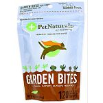 Garden bites are made with real vegetables and they are freeof wheat, corn and animal protein These treats use real spinach, kelp, broccoli powder, carrotpowder, garlic and flaxseed. To provide multiple health factors and a delicious flavor.