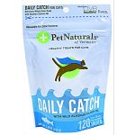 Daily catch for cats with wild alaskan salmon is a great source of omega 3 fatty acids. This product is free of corn meal, artificial colors and flavorings. Daily catch uses no added grains and supports skin and coat health in cats.
