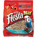 Fiesta parakeet contains the best fruits, vegetables, nuts and specialty seeds into a nutritious, gourmet diet. The variety of shapes, sizes, and textures makes eating more fun for playful birds.