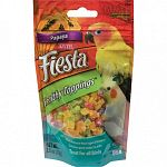 Fiesta healthy topping papaya treat for avians.