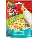 Crunchy fortified nuggets with a smooth, delicious, fruit flavored yogurt coating. Healthy and fun to eat for your pet cockatiel