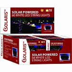 String of 60 solar white led string lights 30 power cord Actual size: 14 lx5 wx5 h