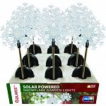 Solar snowflake garden stakes 5 white and 4 blue led lights Actaul size: 5 lx3 wx33 h