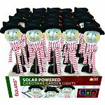 Solar snowman with scarf globe stakes Actual size: 5 lx5 wx33 h