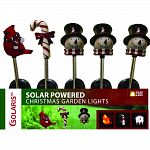 Solar christmas garden stakes 12 snowman, 4 candycane and 4 cardinal Actual size: 4 lx4 wx30 h