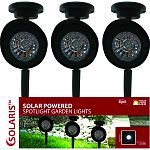 Solar spot light for use in flower beds, walkways, and more 15 high abs plastic spot light with solar panel Great for highlighting key landscape features or extra security for lighted walkways Ul listed