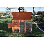 The santa fe mobile coop is perfect for the small backyard poultry enthusiast Just the right size for 2 or 3 chickens Allows you to move your hens around giving them fresh groundto scratch and fertilize Includes built in wheels, outside access nesting box