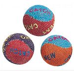 Three pack of burlap toy balls for cats and kittens. These balls are the perfect size and the perfect material for your cat to have hours of chasing enjoyment. Burlap is a texture that cats cannot resist. 3 pack.