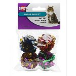 Your cat won't be able to resist the fun, crinkle sounds that these mylar balls make. Available in a pack of 4 and great for homes with one or more cats. Sold in an assortment of bright colors.