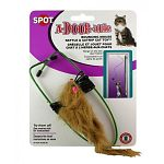 Ethical's A-Door-Able bouncing mouse toy gives your cat another way to have hours of entertainment. Just hang this mouse on any door frame and watch your cat bat this silly mouse around. Mouse is made with real fur to look real. Filled with catnip.