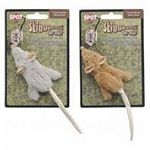 This unique cat toy contains no stuffing and makes no mess if your cat likes to chew on toys. Flat mouse shape is available in tan or grey. Sprinkle catnip on and watch your cat have hours of fun. Sold individually.