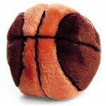 Your dog can play defense while you shoot some 3-pointers with this awesome plush basketball dog toy. Perhaps your pup is the next slam-dunk champion, find out and play some hoops with your best friend with this adorable B-ball toy.