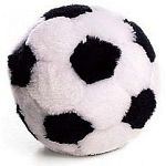 4.5 inch plush soccer ball dog toy by Ethical Pet. Great for tossing and playing with your dog. Great gift for the soccer-nut dog owner.