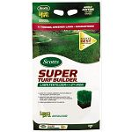 Scotts Lawn Pro Super Turf Builder Lawn Fertilizer with 2% Iron delivers quick greening with long-lasting results for up to two full months. Turf Builder releases high levels of nitrogen slowly, as the grass needs it, so there's no surge growth to cause