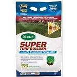 Scotts Lawn Pro Super Turf Builder with Halts Crabgrass Preventer prevents crabgrass and helps grow a thicker, greener lawn guaranteed. It delivers pre and early post-emergent crabgrass control and prevents crabgrass, foxtail, oxalis and spurge.