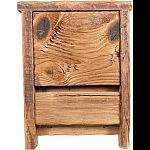 Natural wood bat house Bats love the texture of the wood Grooves helps the bat cling safetly Made in the usa