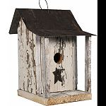 Birds will feel right at home in the shanty Weathered decorative yet functional Made in the usa by skilled craftsman
