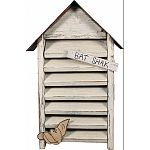 Decorative home for bats Functional, made with weathered wood Made in the usa by skilled craftsman