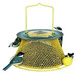 Sweet Corn yellow sunflower basket bird feeder is a cheerful and colorful bird feeder for your yard. Fill the feeder with your favorite bird seed and hang from a tree or post. This feeder provides full viewing of wild bird feeding.