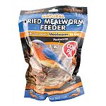 Highly nutritious food for wild birds. Great for robins, bluebirds, woodpeckers and all insect eating birds. 100 percent all natural hanging reed feeder. Combo pack contains 2oz dried mealworm and an all natural reed feeder.
