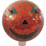 The diamond shape and crackle effect make this non traditional gazing globe an eye catching work of art for any outdoor space A perfect choice against a plain backdrop such as a wall or fence. At night, aim an outdoor light on globe and watch them reflect