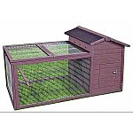 Tongue and groove construction with waterproof shingle roof hinged for easy access Features a covered screened porch for a free range environment to protect chickens from predators Features 2 removable roosts and access door for side access to roost are