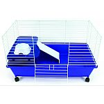 Kit ready just add food and bedding, complete with bowl, bottle, shelf, ramp and rolling casters Deep plastic base and an easy snap-on top made of durable powder coated wire Great for guinea pigs, rabbits, ferrets, chinchilla