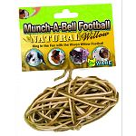 This fun football will help keep your small animal pet entertained for hours. Small animals love to nibble on the natural willow and a bell inside makes a fun sound when rolled around on the floor or tossed in the air.