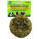 Your small animal will love this fun ball toy by Ware. Made of natural broom grass fibers, this toy is fun to roll or toss around with your small animal pet and great for your pet to nibble. The texture of the grass is ideal for helping to keep teeth clea