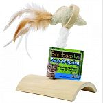 Flipping, feathered fun for felines Made from earth friendly bamboo Feather and catnip accents tantalize kitty Natural bamboo toy with enticing springy bird