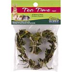 Twig chew toy perfect for rabbits, guines pigs, chinchillas, pet rats, hamsters, mice, and gerbils Made from natural tea leaves and twigs Helps promote dental health Encourages healthy activity