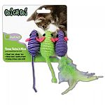 Instinct cat toys are made to let cats be cats allowing them to jump, pounce and chase their prey. Keeping them busy and postively engaged with the world around them. These clorful and fun toys stimulate the senses and reward kitty with healthy play.
