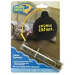 Includes genuine cosmic catnip. Releases catnip for hours of rewarding play. Easy to fill and refill.