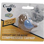 Cats love our bird! Wit fabric wings to make carrying easy, bat the birdie is sure to please the finickiest of cats! Catnip without the mess Made from natural resources Premium north-american-grown